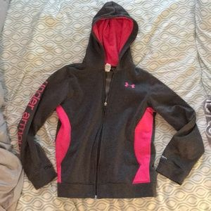 Under Armour Girl's Zip-Up Hoodie